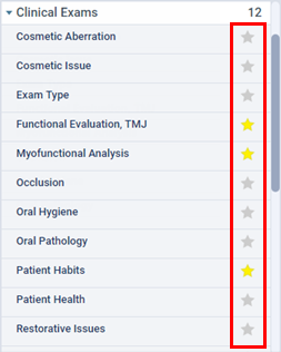 Adding clinical note templates to the list of favorites – Dentrix Ascend