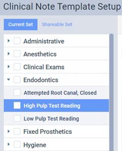 Customizing clinical note templates – Dentrix Ascend
