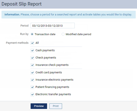 Viewing and printing deposit slips – Dentrix Ascend